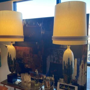 City Scape Lamp Pair
