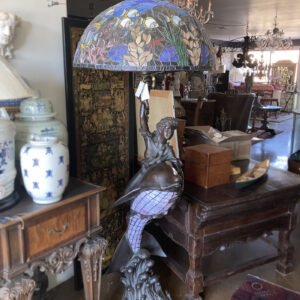 "Bronze Cast ""Dolphin & Lady"" Floor Lamp"